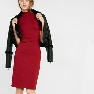 Express Red Dress-ZIP BACK SHORT SLEEVE SHIFT NWO
